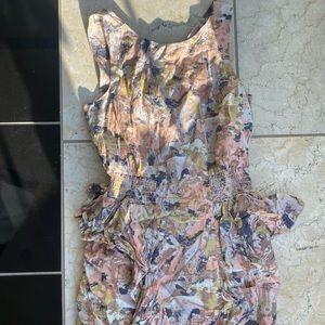 H and m H&M Floral Dress Peplum Pattern